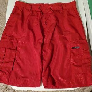 Gucci men's XL designer red logo swim trunks